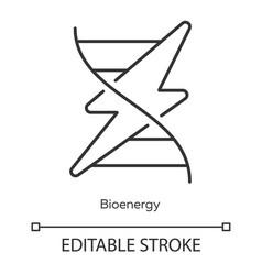 Bioenergy linear icon biofuel producing renewable vector