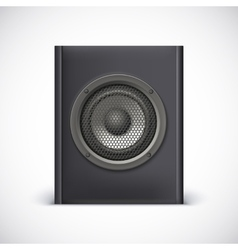 Black sound speaker vector