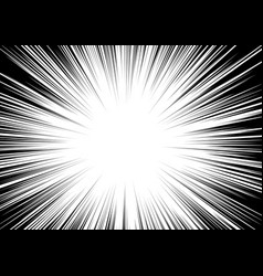 Black-white contrast background rays arranged vector