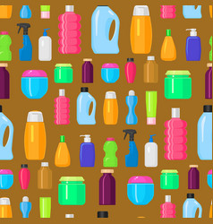 Bottles household chemicals supplies vector