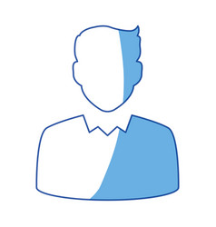 Businessman profile avatar vector
