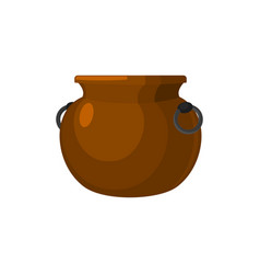 Cauldron empty pot isolated metal boiler magic vector