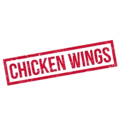 Chicken Wings rubber stamp vector