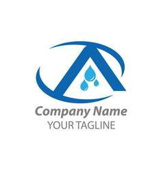 Creative design for latter a latter a logo vector