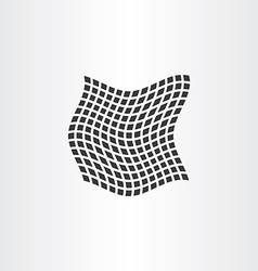 distorted dot halftone square background vector image