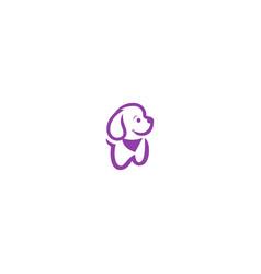 dog puppy cute logo vector image
