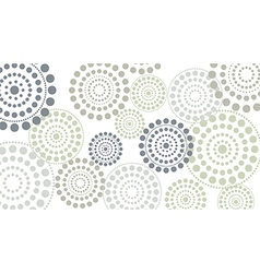 dotted circles horizontal vector image