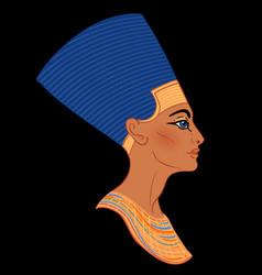 Egyptian queen nefertiti isolated on white vector