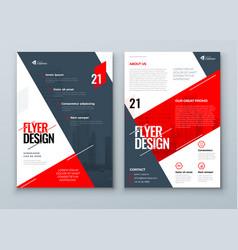 Flyer design red modern flyer background design vector