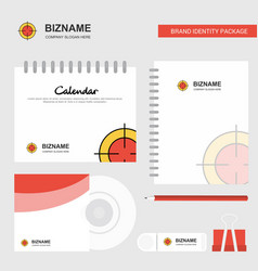 focus logo calendar template cd cover diary and vector image