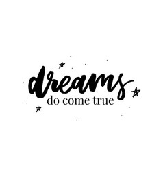 follow your dreams card beautiful greeting banner vector image