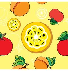 fruit pattern print vector image vector image