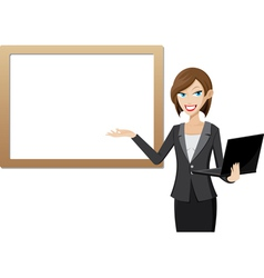girl laptop vector image