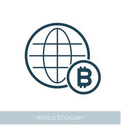 Global economy icon vector