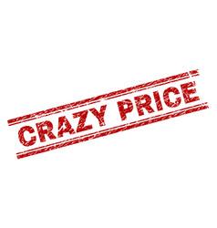 Grunge textured crazy price stamp seal vector