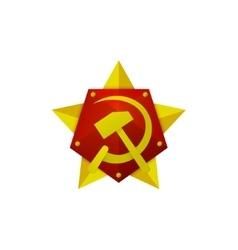 Hammer and sickle soviet modern star logo vector