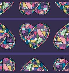 hearts hand drawn seamless pattern vector image