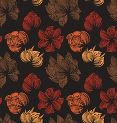 Herbarium seamless texture vector