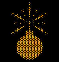 Hexagon halftone fireworks detonator icon vector