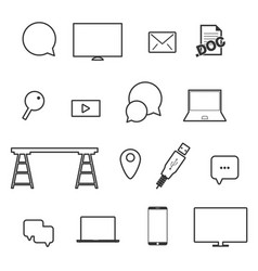 Icon set technology vector