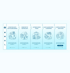 Intermittent fasting tips onboarding template vector