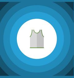 Isolated sleeveless tank flat icon singlet vector