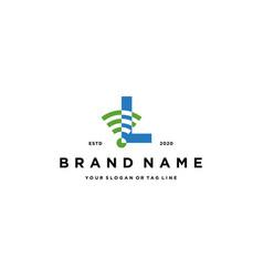Letter l wireless logo design vector