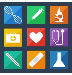 Medical Icons Flat UI vector image