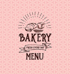 Menu logo template vintage badge food design vector image
