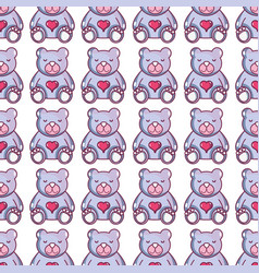 nice teddy bear toy to game background vector image