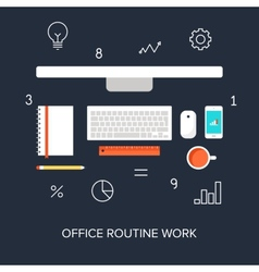 Office Routine Work vector image