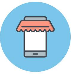 Online shopping icon vector