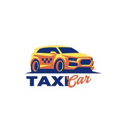 passenger car hatchback taxi vector image