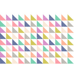 pattern with grunge abstract triangles vector image