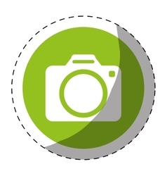photographic camera button thumbnail icon image vector image