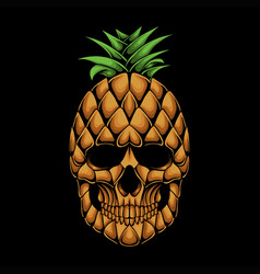 Pineapple skull head vector