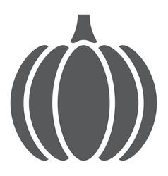 pumpkin glyph icon vegetable and vitamin vector image