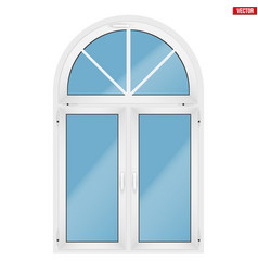 pvc window with arch vector image