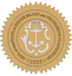 Rhode Island Seal vector image vector image