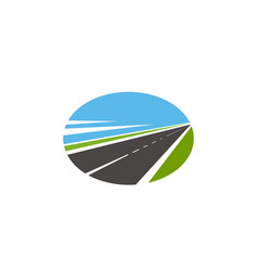 Road pathway highway icons path way route drive vector