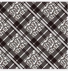 Scottish tartan grunge seamless pattern with vector