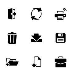 Set simple icons on a theme save vector