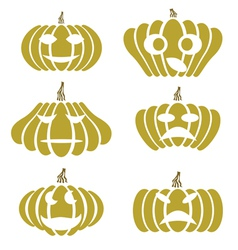 Silhouettes of pumpkin vector
