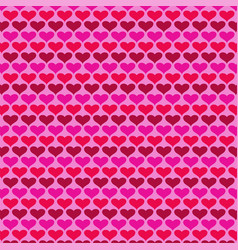 simple valentines day heart background pattern vector image