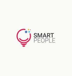 Smart people logo icon template design vector