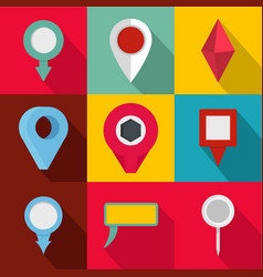 Spot icons set flat style vector