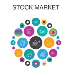 Stock market infographic circle concept smart ui vector