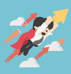 Superhero concept business flying targering high vector