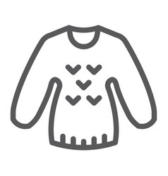 Sweater line icon clothing and pullover jumper vector