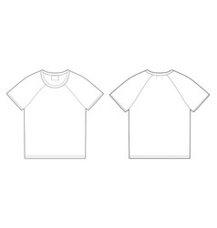 t-shirt design template front and back vector image